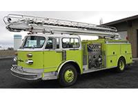 Wicktonville Fire Department's Quint 53 - 1976 American LaFrance Century Pumper TeleSqurt